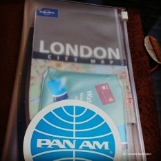 Zip Lock Pouch for the Midori - the Pan Am sticker was a gift the seller included in the shipment.
