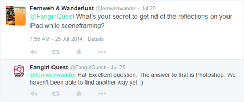 FangirlQuest answering a tweet and revealing the secret to their success.