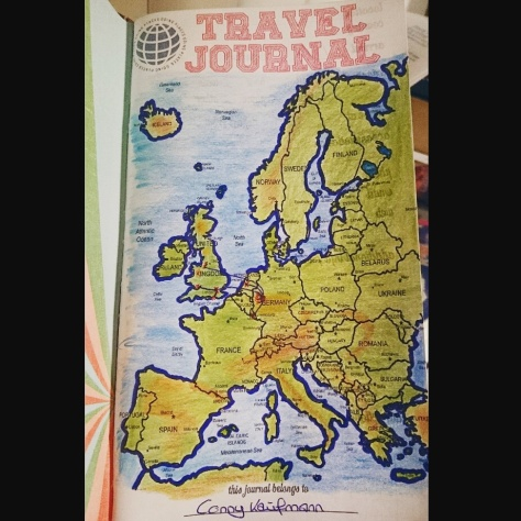 Travel Journal map of Europe