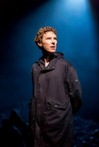 Hamlet in a hoodie. Benedict Cumberbatch as Hamlet at the Barbican. Credit: Johan Persson/
