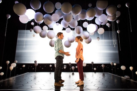 Joe Armstrong and Louise Brealey as Roland and Marianne in Constellations.