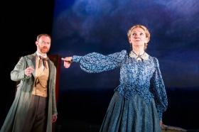 A scene from Three Days In The Country with Shpigelsky (the formidable Mark Gatiss) and Lizaveta (Debra Gillett). ©Tristram Kenton