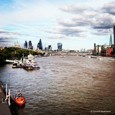 The river Thames, seen from Embankment / Waterloo Bridge, towards the City and Southwark © Cornelia Kaufmann