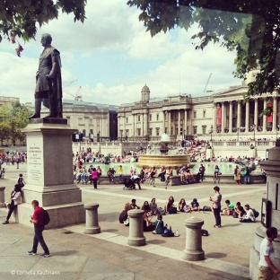 Trafalgar Square and the National Gallery © Cornelia Kaufmann