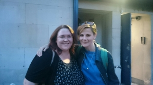 Meeting actress Louise Brealey after the final performance of Constellations at Trafalgar Studios