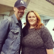 Meeting actor John Simm after a performance of Three Days In The Country at the National Theatre, London © Cornelia Kaufmann
