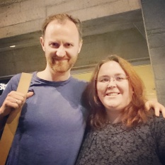 Meeting actor Mark Gatiss after a performance of Three Days In The Country at the National Theatre. © Cornelia Kaufmann