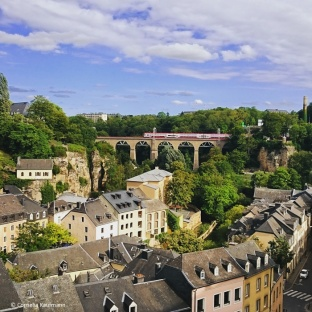 Grund, a suburb of Luxembourg City, Luxembourg. © Cornelia Kaufmann