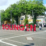 """Willkommen in Solingen"" - Welcome to Solingen installation outside Solingen train station in Solingen-Ohligs. © Cornelia Kaufmann"