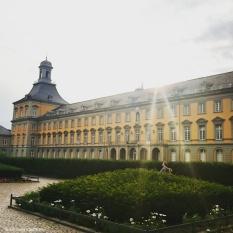 The main building of the Rheinische Friedrich-Wilhelms-Universität Bonn. This shows the side facing the large park behind the University of Bonn. © Cornelia Kaufmann