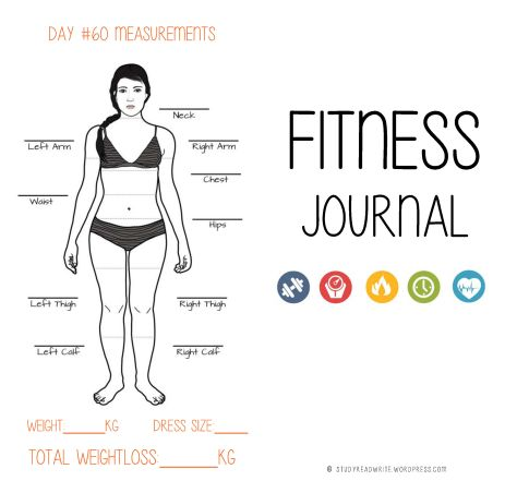 Fitness Journal front & back cover © Cornelia Kaufmann