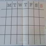 Weekly / Monthly Schedule. To be used as either a weekly schedule separated into morning, noon, afternoon, night, or used as a 4 week/month overview