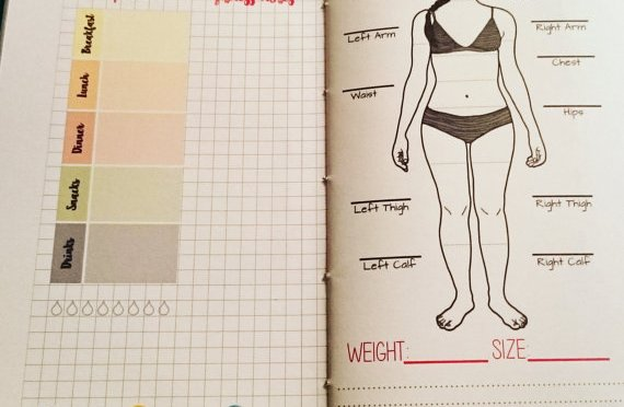 Traveler's Notebook Weight Loss and Fitness Inserts