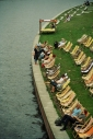 Chilling out on deck chairs along the shore of the river Spree. ©Cornelia Kaufmann